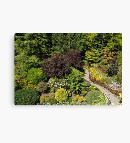 Aerial View, Butchart Gardens Canvas Print