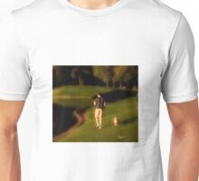 Man walking his dog Unisex T-Shirt