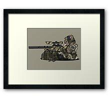 SKOPE (Tan) Framed Print