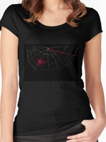 this is titled 'blood web' Women's Fitted Scoop T-Shirt