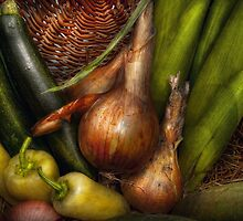 Food - Vegetables - Greens and Onions  by Mike  Savad