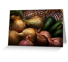 Food - Vegetables - Onions and Peppers Greeting Card