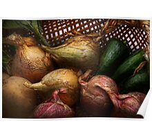 Food - Vegetables - Onions and Peppers Poster