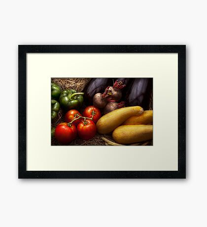 Food - Vegetables - Peppers, Tomatoes, Squash and some Turnips Framed Print