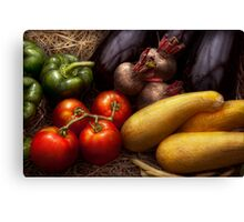 Food - Vegetables - Peppers, Tomatoes, Squash and some Turnips Canvas Print