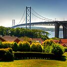 The Forth Road Bridge from North Queensferry by Tom Gomez