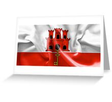 Gibraltar Flag Greeting Card