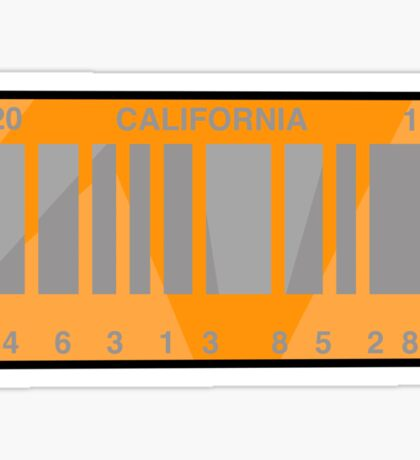 NOW IS THE FUTURE - California Plate 2015 Sticker