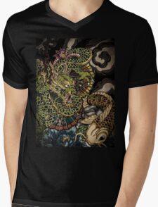 Japanese dragon and koi fish  Mens V-Neck T-Shirt