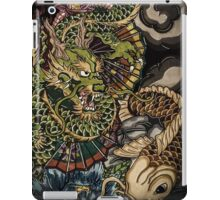 Japanese dragon and koi fish  iPad Case/Skin