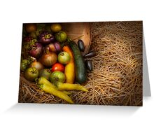 Food - Vegetables - Very early harvest Greeting Card