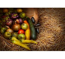 Food - Vegetables - Very early harvest Photographic Print