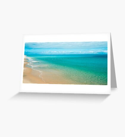 View from Tangalooma Island beach. Greeting Card