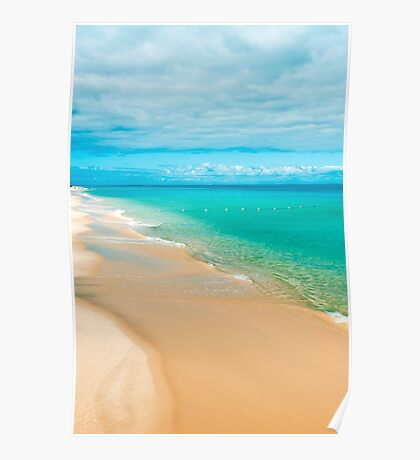 View from Tangalooma Island beach Poster