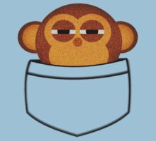 Pocket monkey is highly suspicious Kids Tee