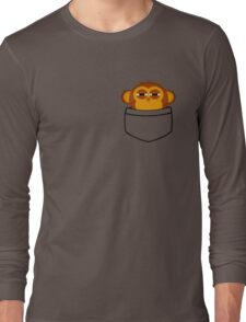 Pocket monkey is highly suspicious Long Sleeve T-Shirt