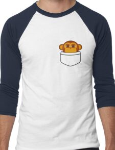 Pocket monkey is highly suspicious Men's Baseball ¾ T-Shirt