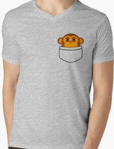 Pocket monkey is highly suspicious Mens V-Neck T-Shirt