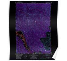 USGS Topo Map Washington State WA Oman Ranch 242958 1949 24000 Inverted Poster