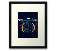 Flux Power Framed Print