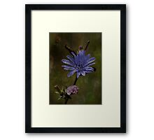 Flowers with Texture Framed Print