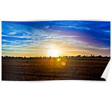 Sunset in the Wimmera Poster