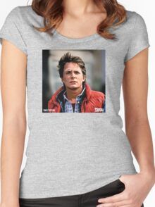 NOW IS THE FUTURE - Marty Mcfly  Women's Fitted Scoop T-Shirt