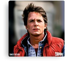 NOW IS THE FUTURE - Marty Mcfly  Canvas Print