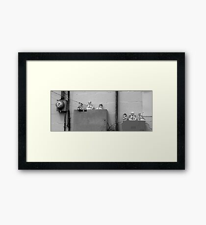 Urban Angles Framed Print