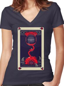 The Ace Of Fates Women's Fitted V-Neck T-Shirt