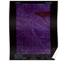 USGS Topo Map Washington State WA Wallace Lake 244517 1989 24000 Inverted Poster