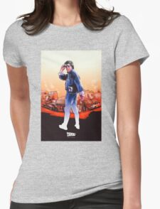 NOW IS THE FUTURE - Marty Mcfly Womens Fitted T-Shirt