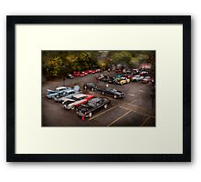 Car - Antique car show  Framed Print