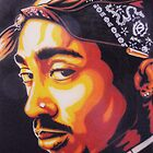 Tupac (stencilised) by billy v_
