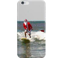Surfing Santa SUP 1 iPhone Case/Skin