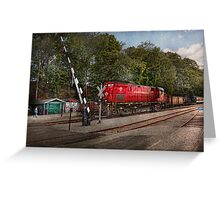 Train - Diesel - Look out for the Locomotive  Greeting Card