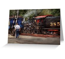 Train - Steam - The conductors job  Greeting Card