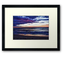 Sunset at Trigg, W.A. Framed Print