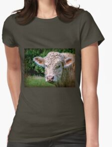 Charolais Bull Womens Fitted T-Shirt