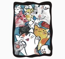 Manga cats conquer the world (with frame) Kids Tee