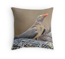 """Hitchhiker"" Throw Pillow"