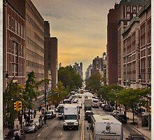 Amsterdam Avenue at Sunset by Forrest Harrison Gerke