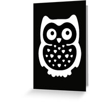 Black & White Owl Greeting Card