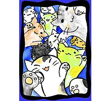 Manga cats conquer the world again (with frame) Photographic Print