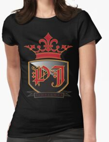 Pimpjamas.com Old Money Crest Logo in Red and Black T-Shirt