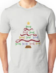 Funny Cool Dog Biscuit Christmas Tree Unisex T-Shirt