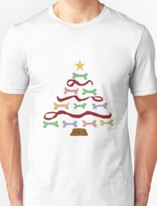 Funny Cool Dog Biscuit Christmas Tree T-Shirt