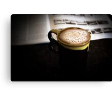 Coffee & Some reading Canvas Print