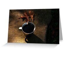 Autumn Coffee  Greeting Card