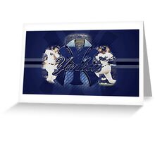 NY Yankees Desktop  Greeting Card